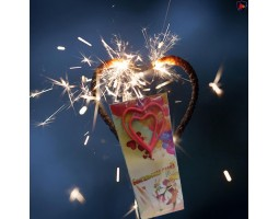 Бенгальская свеча сердце TKF023