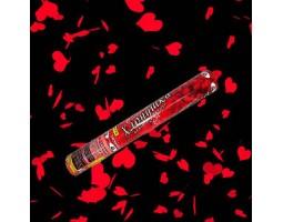 Хлопушка красные сердца 60 см FP-04
