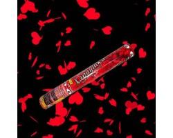 Хлопушка красные сердца 40 см FP-08