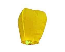 Небесный фонарик желтый